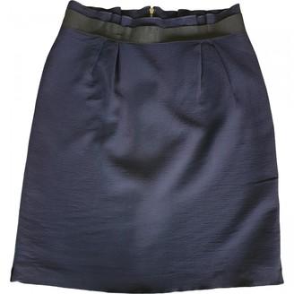 Lanvin Navy Wool Skirt for Women Vintage