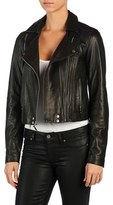 Paige Women's Roanna Crop Leather Moto Jacket