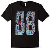 Official 88 Heroes T-shirt Design Blue