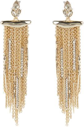 Alexis Bittar Navette Crystal Cluster Post Fringe Earring