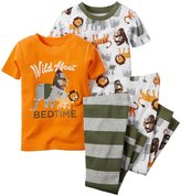 Carter's 4 Piece PJ Set (Baby) - Wild about Bedtime-6 Months