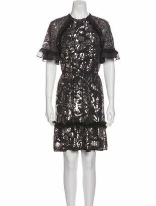 Needle & Thread Crew Neck Knee-Length Dress Grey