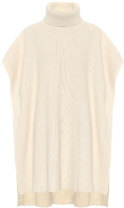 Joseph Ribbed-knit turtleneck poncho