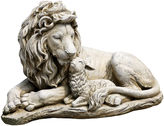 Asstd National Brand 12.5 Lion And Lamb Fig Outdoor Statue