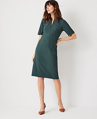 Ann Taylor The High Neck Sheath Dress in Bi-Stretch