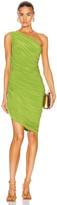 Norma Kamali for FWRD Diana Mini Dress in Matcha Green   FWRD