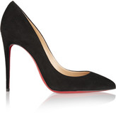 Christian Louboutin Pigalle Follies 100 Suede Pumps - Black