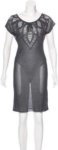 John Galliano Rib Knit Sweater Dress