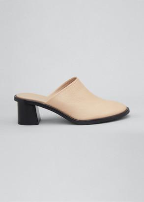 The Row Teatime Leather Clogs