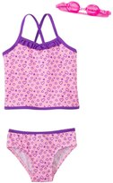Jump N Splash Girls' Happy Heart TwoPiece Swimsuit w/ Free Goggles (4-6X) - 8143020