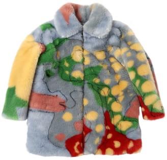 Stella Mccartney Kids Printed Faux Fur Coat