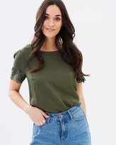 Oasis Lace Trim Tee