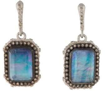 Armenta New World Emerald Cut Earrings