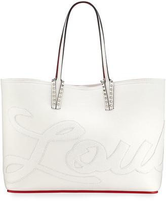 Christian Louboutin Cabata Logo Calf Glitter Tote Bag