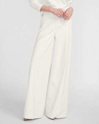 Express High Waisted Herringbone Wide Leg Flannel Pant