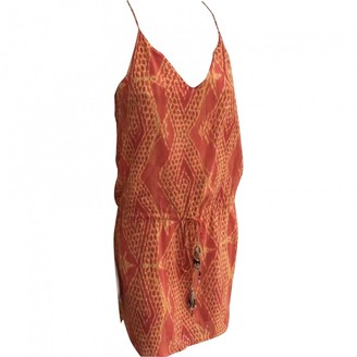 Vix Paula Hermanny Orange Cotton Dress for Women