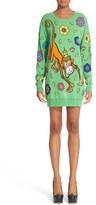 Moschino Women's Cartoon Animal Sweater Dress