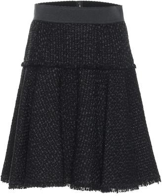 Dolce & Gabbana High-rise tweed miniskirt
