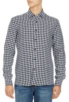 Black & Brown Black Brown Gingham Linen Sportshirt