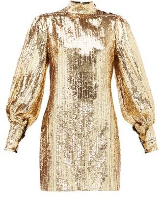 Borgo de Nor Lima Sequinned Mini Dress - Womens - Gold