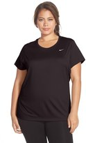 Nike 'Miler' Dri-FIT Extended Short Sleeve Top (Plus Size)