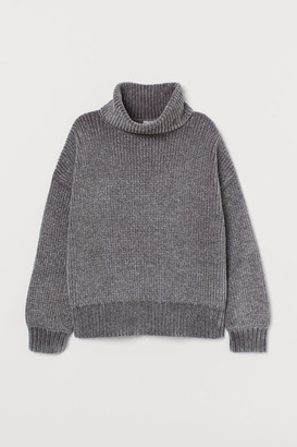 H&M Oversized Turtleneck Sweater - Gray