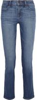 J Brand Amelia Mid-rise Slim-leg Jeans - Mid denim