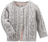 Osh Kosh Baby Girl Cable Knit Cardigan Sweater