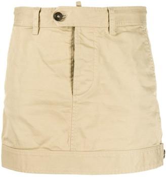 DSQUARED2 buttoned waist mini skirt