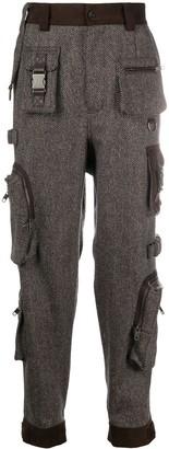 Dolce & Gabbana Herringbone Pattern Cargo Trousers