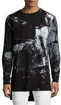 PRPS Abstract Long-Sleeve T-Shirt, Black