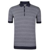 John Smedley Fairisle Polo Shirt