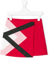 MSGM graphic wrap skirt