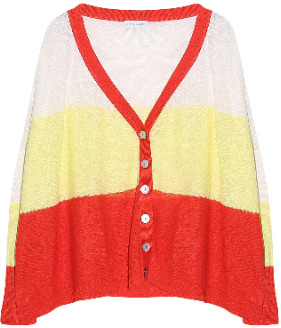 Engage engage - White Red and Yellow Stripes Linen Cardigan - xs | White/Red/Yellow | linen - White/Yellow/Red