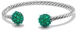 David Yurman Osetra End Station Bracelet With Green Onyx