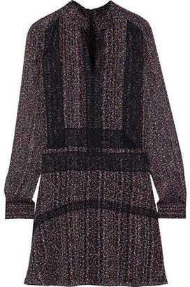 Derek Lam 10 Crosby Lace-trimmed Floral-print Chiffon Mini Dress