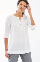 J. Jill Linen Pintucked Top