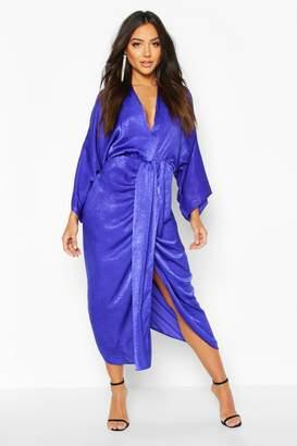 boohoo Velvet Satin Batwing Midaxi Dress