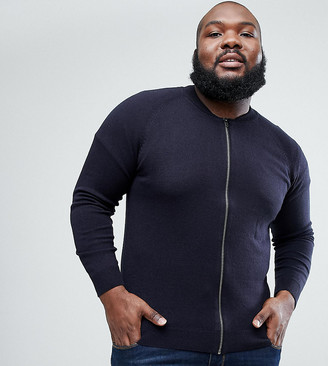 French Connection PLUS Knitted Bomber Jacket