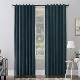 Sun Zero Amherst Velvet Thermal Extreme 100% Blackout Back Tab Curtain Panel