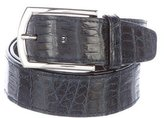 Brioni Crocodile Belt
