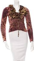 Roberto Cavalli Printed Long Sleeve Top