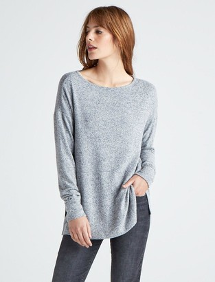 Lucky Brand Cloud Jersey Pullover Tunic Sweatshirt