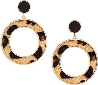 Uncommon James by Kristin Cavallari Leopard Drop Earrings