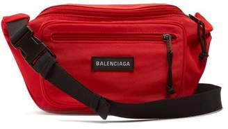 Balenciaga Logo Applique Nylon Belt Bag - Mens - Red Multi
