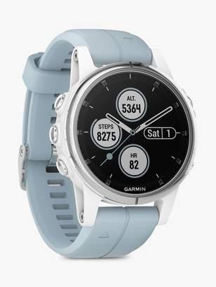 Garmin fenix 5S Plus GPS Multisport Watch, White with Sea Foam Band, 4.2cm