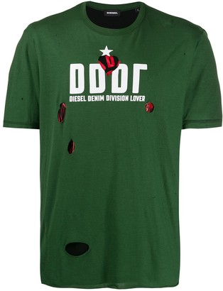 Diesel Destroyed double-layer T-shirt
