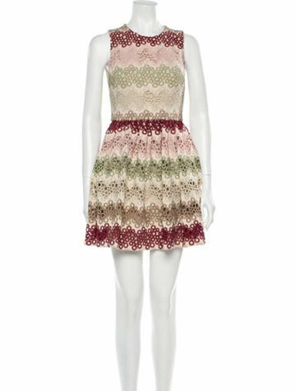 Alice + Olivia Lace Pattern Mini Dress w/ Tags Pink