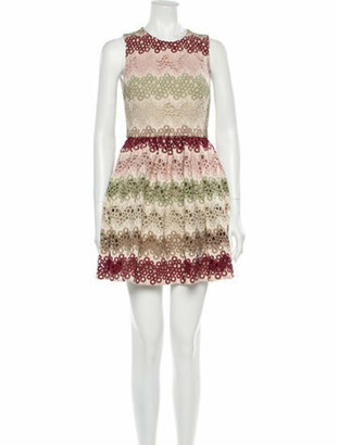 Alice + Olivia Lace Pattern Mini Dress w/ Tags Pink
