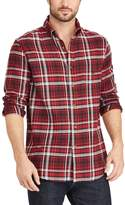 Chaps Big & Tall Classic-Fit Plaid Flannel Button-Down Shirt